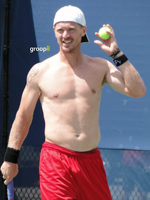 Alex Bogomolov Jr. Shirtless at Cincinnati Open 2011