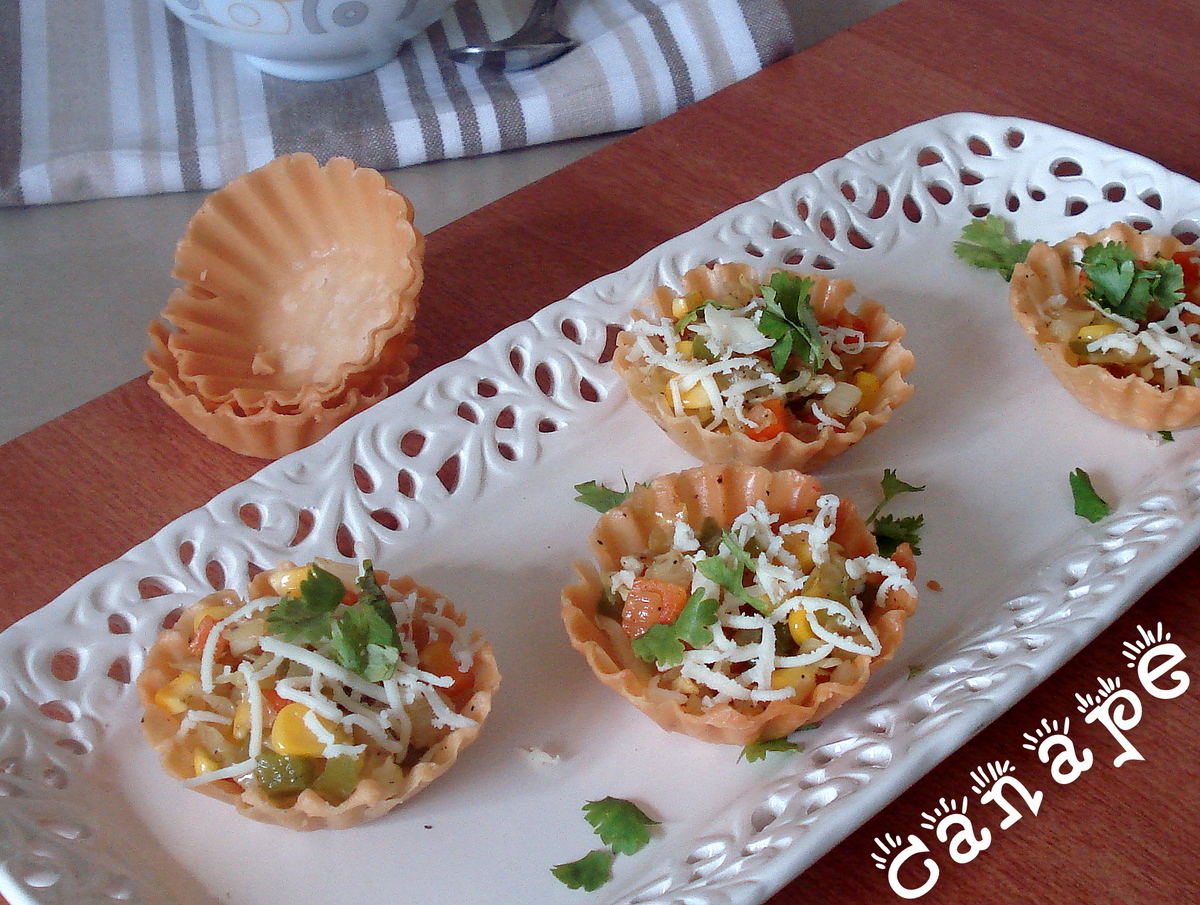 Palakkad chamayal canape for Canape garnishes