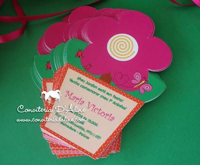 convite florzinha jardim rosa