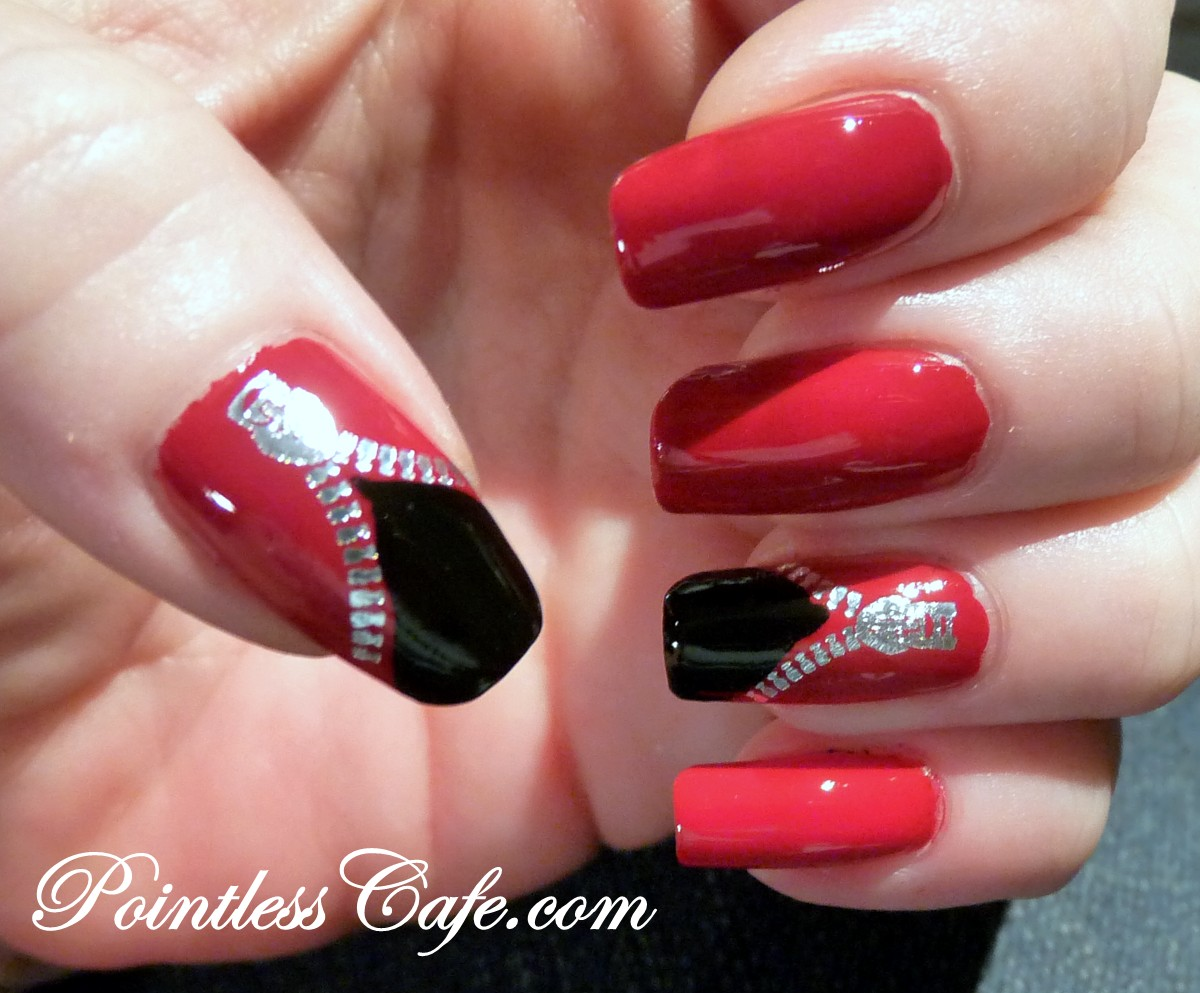 Дизайн ногтей с замком фото