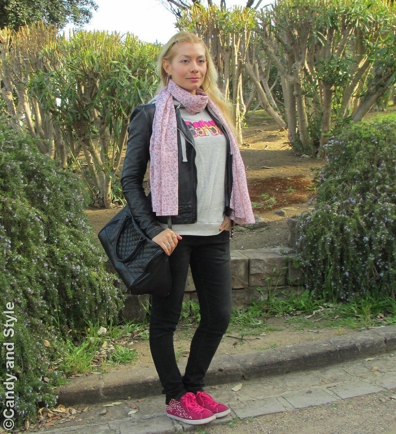 Biker Jacket, Hoodie, Jeans, Sneakers, Tote Bag - Lilli Candy and Style Fashion Blog