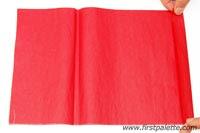 Como hacer flores con papel Tissue
