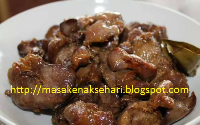 resep ampela hati bacem resep masakan indonesia