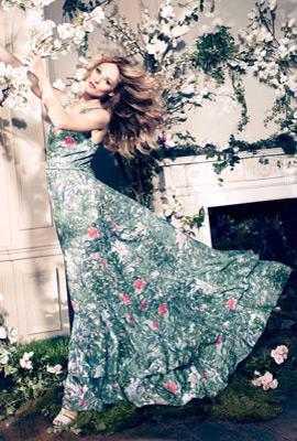 H&M primavera 2013 Conscious vestido largo