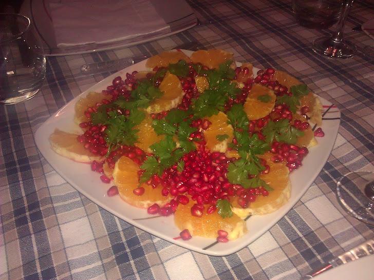 Salada de Laranja e Romã