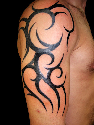 Tribal Upper Arm Tattoo