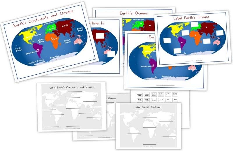 Worksheet. World Wide Wanderings Continents  Oceans Printable