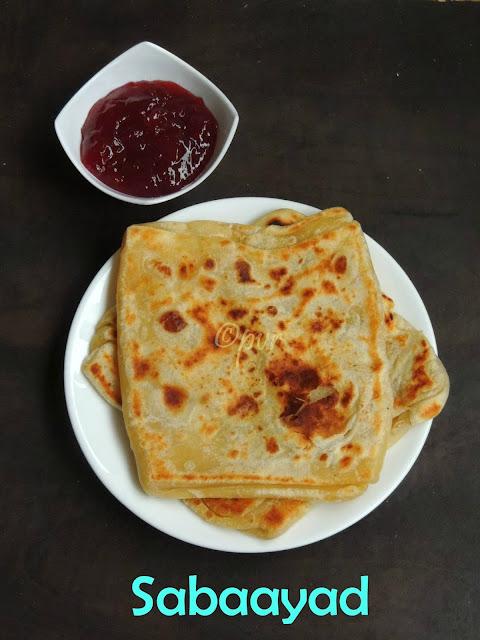 Somali Flat Bread, Sabaayad