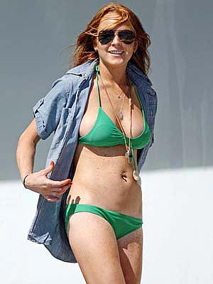 lindsay lohan bikini wallpaper The Hottest Teen Idols. Miley Cyrus