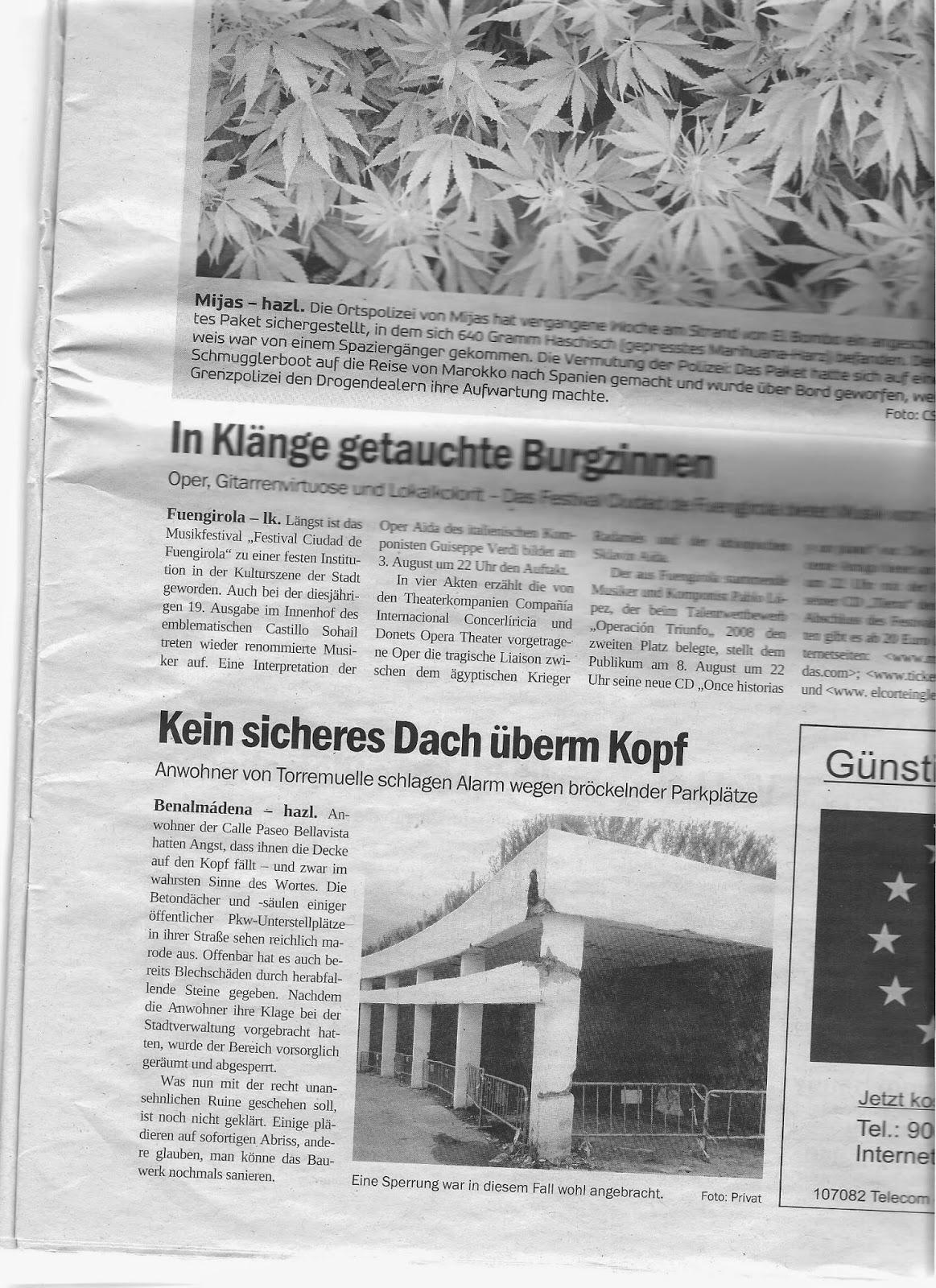 La prensa alemana también se hace eco del peligro de derrumbe
