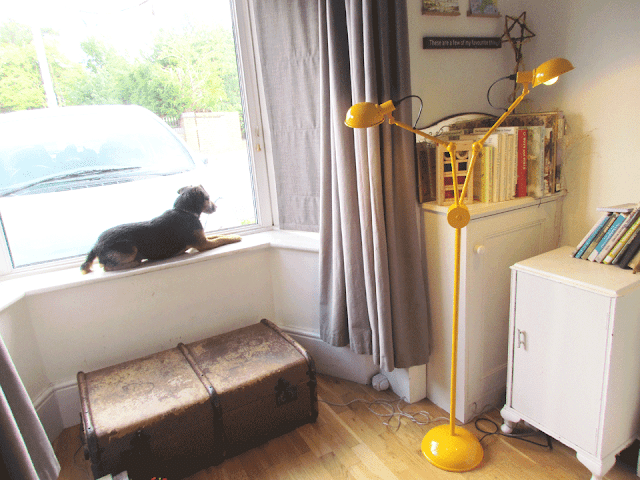 Habitat yellow floor lamp