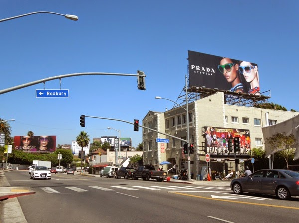 Gucci vs Prada Eyewear Spring 2014 billboards Sunset Strip