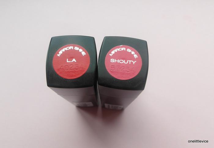 review swatch colour lipstick 17 L.A Shouty