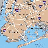 Mapa aeropuerto de Nueva York