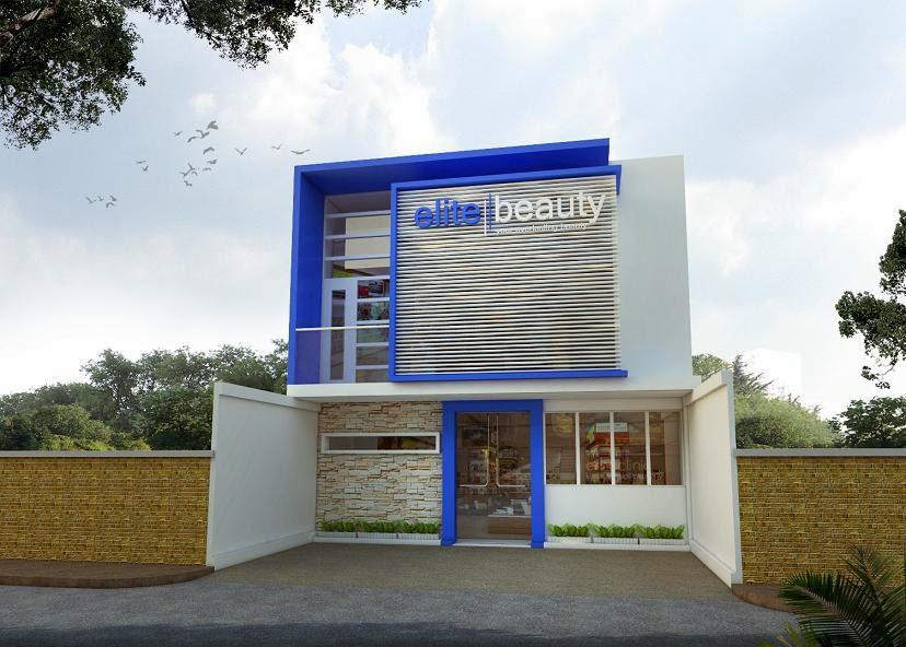 ... Modern: Jasa Gambar Ruko Klinik Salon Kecantikan Biaya Desain 450ribu