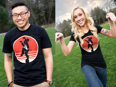 "Johnny Cupcakes The Karate Kid Inspired T-Shirt ""Crane Kick"""
