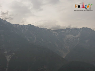 View of Himalayas from Triund peak