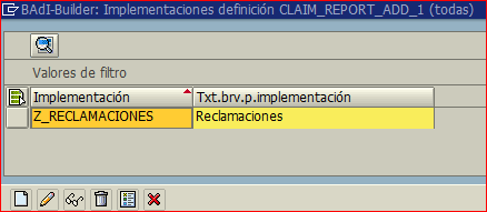 Ampliación de la BADI CLAIM_REPORT_ADD_1