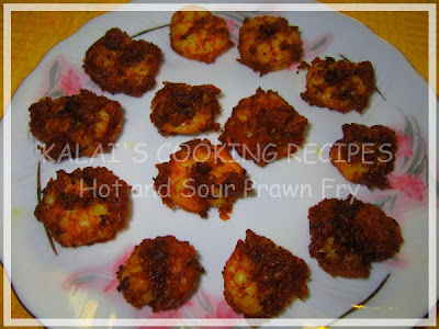 Hot and Sour Prawn Fry