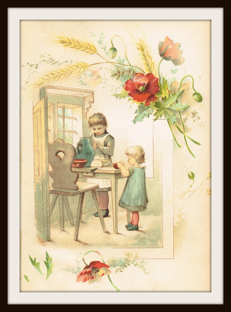 I believe the translation of the title of the book is \u201cA Savior is Born\u201d and most of the illustrations inside the book were Christmas-related although the ... & Antique Graphics Wednesday - Two 1900\u0027s Children Image Book Plates ...
