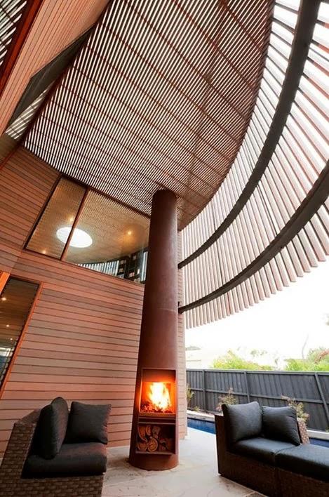 Diseño de moderna casa de madera circular de dos pisos [fotos ...