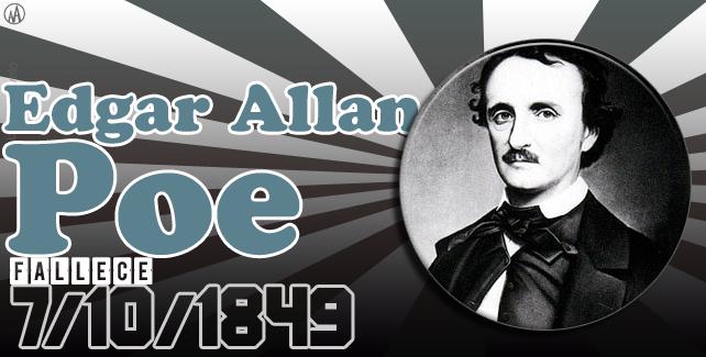 7/10/1849: fallece Edgar Allan Poe