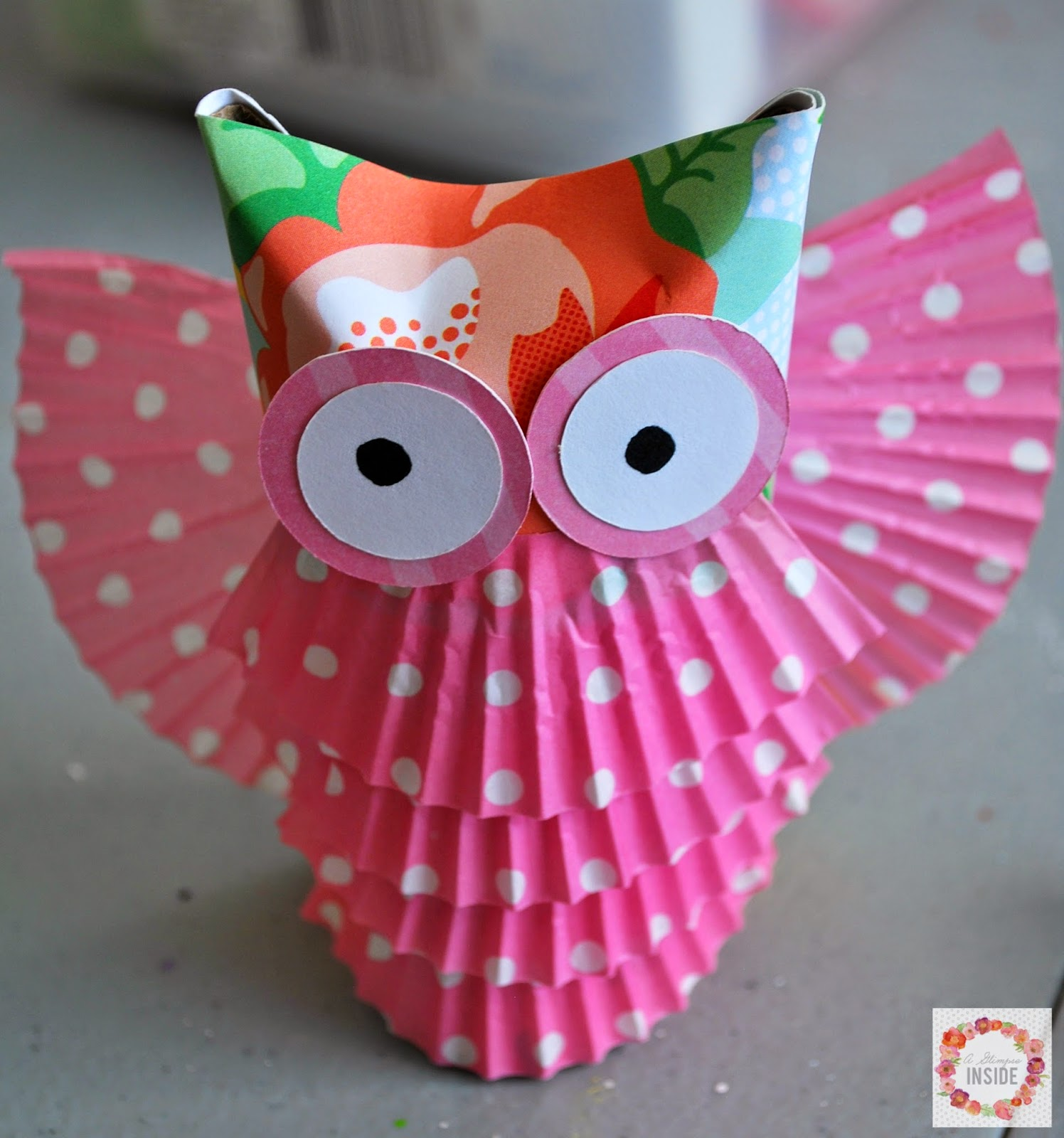 A glimpse inside toilet paper tube owls for Toilet paper tube owls