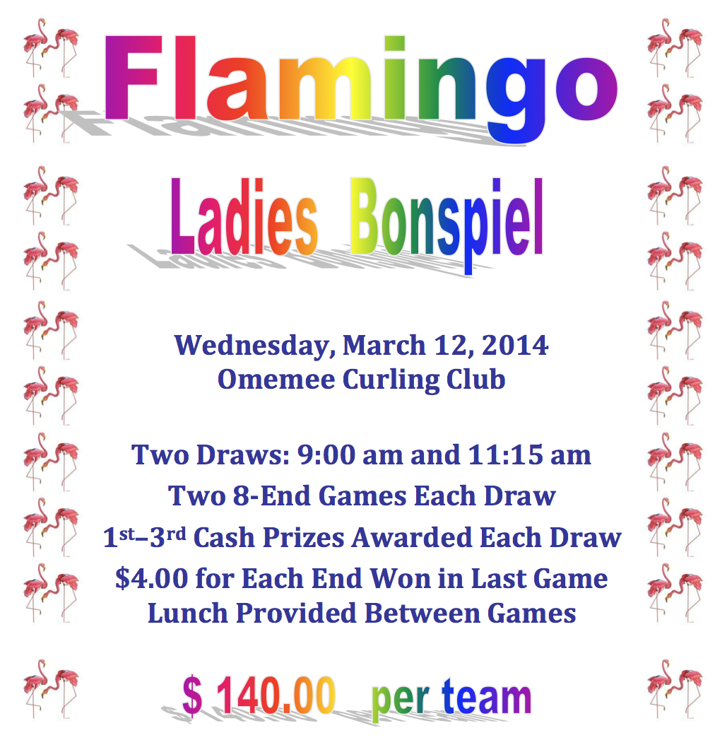 Omemee Ladies Flaming Bonspiel Flyer