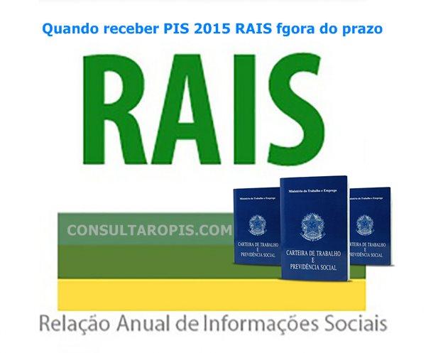 Pagamento do PIS 2015-2016 Rais entregue fora do prazo