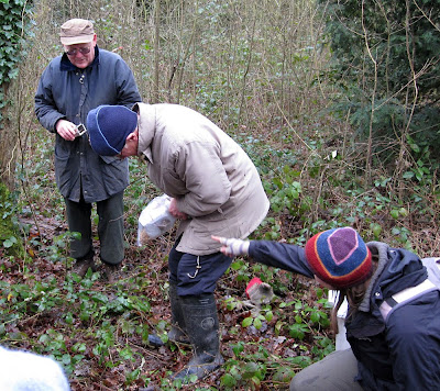 Opening a humane small mammal trap in Jubilee Country Park