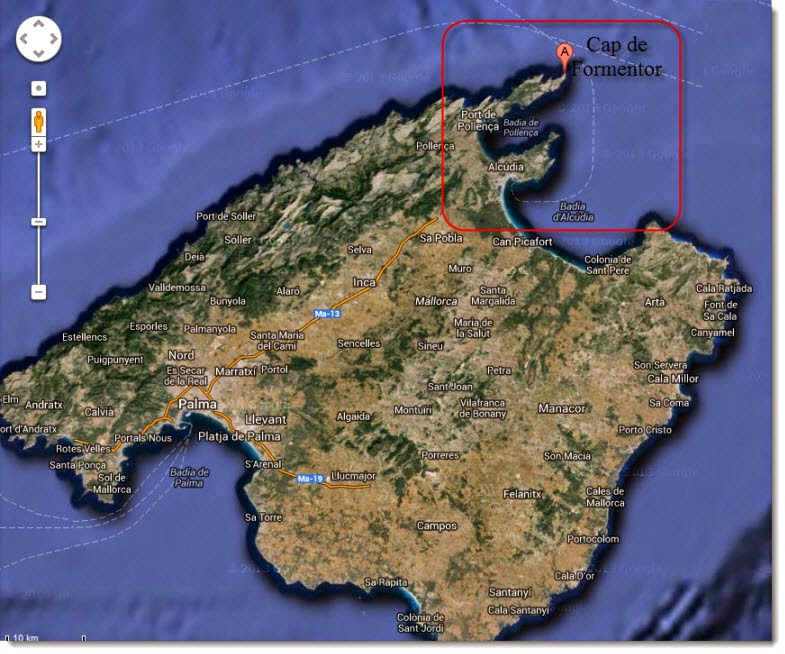 Cap de Formentor, Bahías de Pollença y Alcudia - Situación