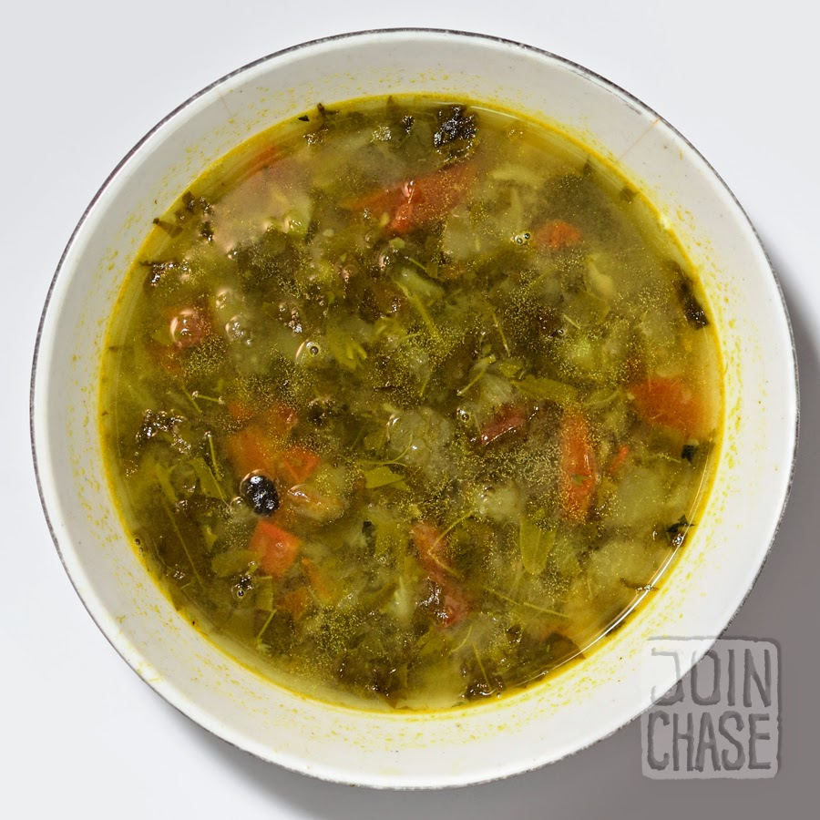 Traditional soup from Myanmar.