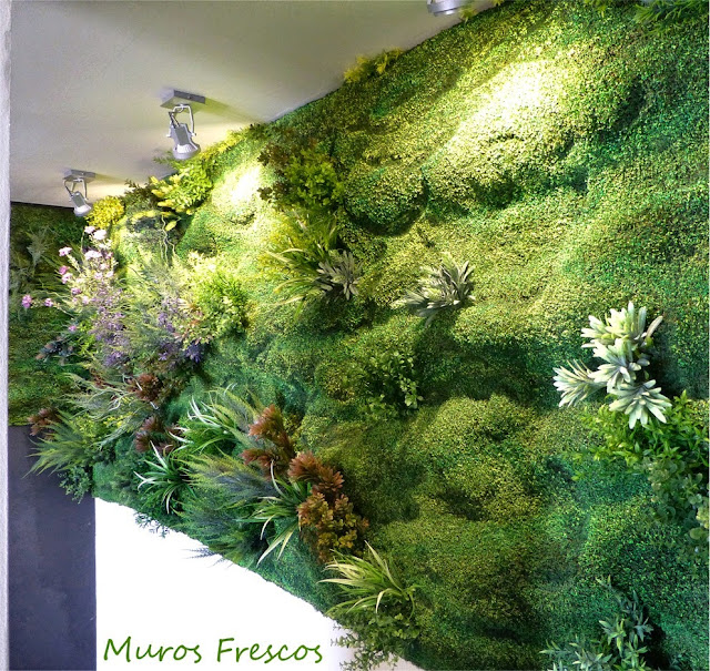 Muro verde artificial - Restaurante paparazzi madrid ...