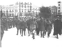 il Generale Yague entra a Barcellona liberata il 18 gennaio del'39
