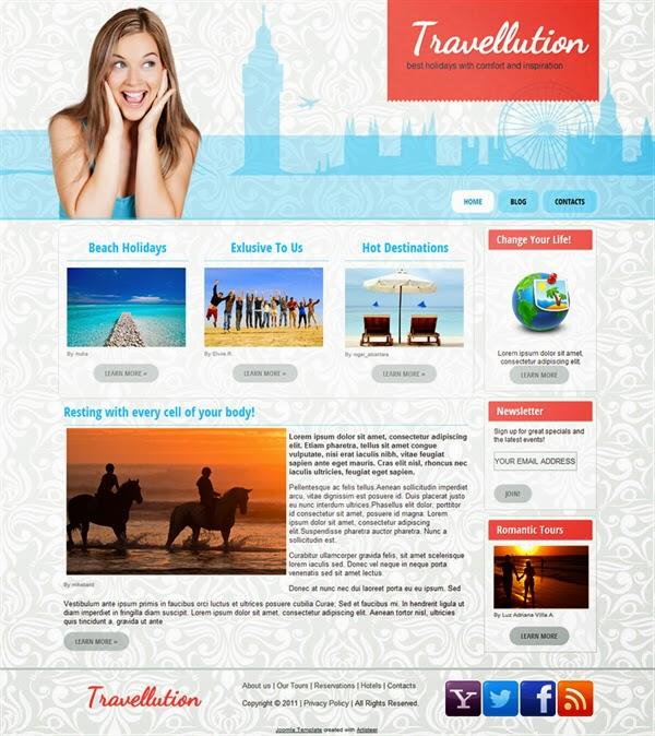 Travellution - Free Joomla! template