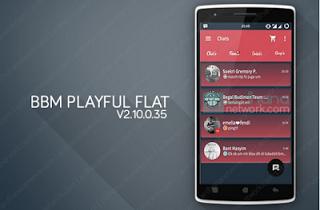 BBM Playful Flat v2.10.0.35 Apk