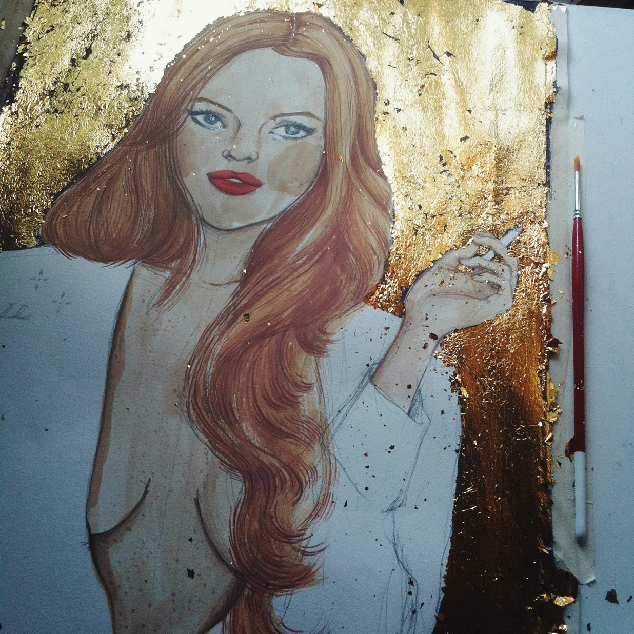 Kitty N. Wong / Lindsay Lohan painting