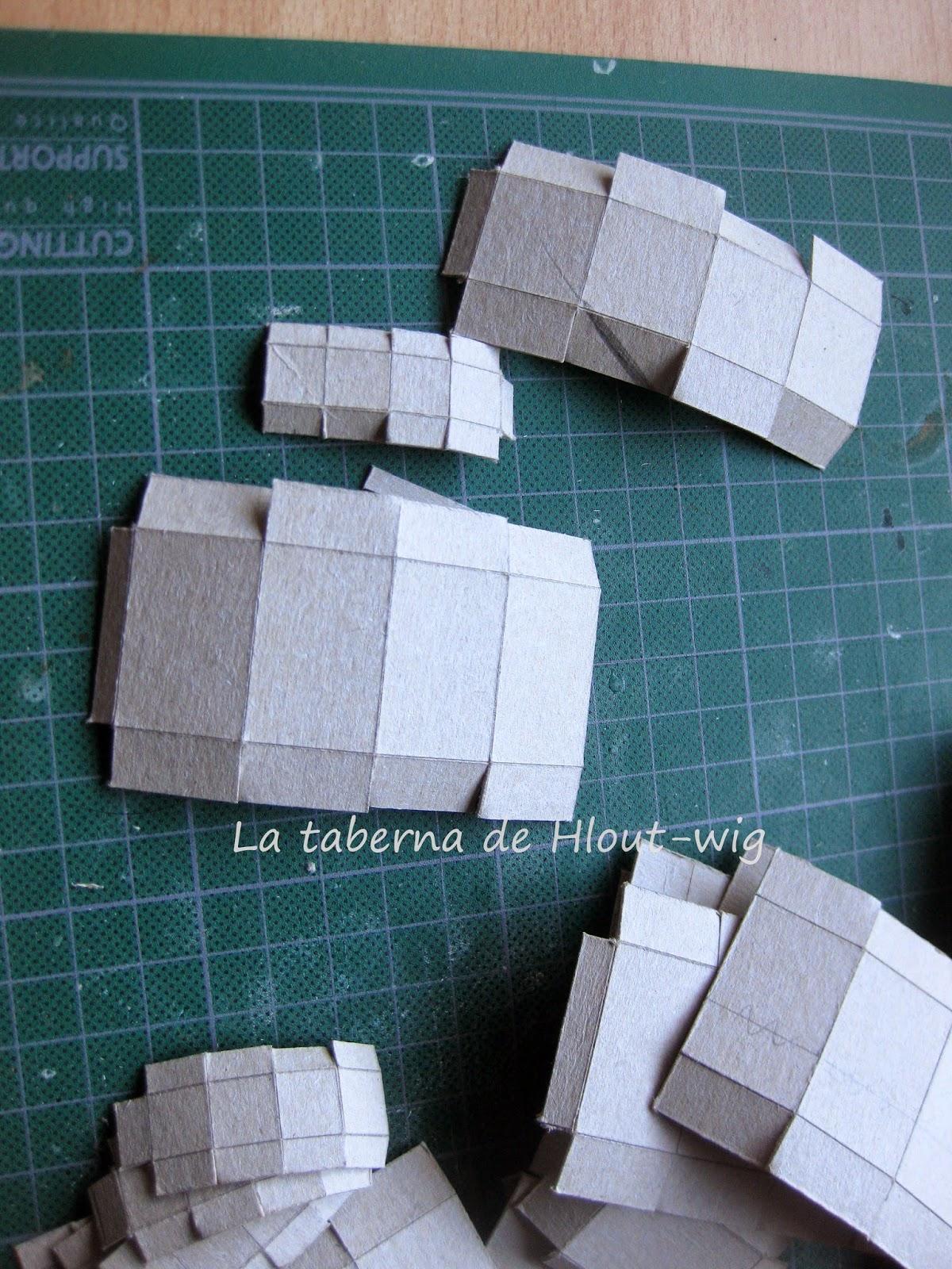 cajas de cartón recortadas