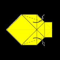 Cara Membuat Origami Ikan 1