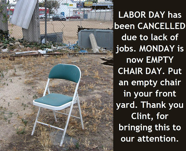 Monday Is Empty Chair Day Will You Have One In Your Lawn