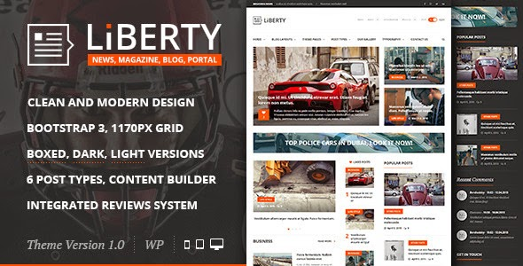 download Liberty News - Magazine, Blog WordPress Theme