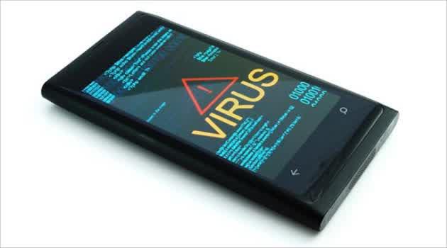 Smartphone terkena virus