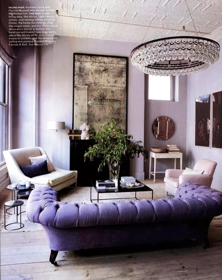 Lavender Living Room : Bohemian Pages: Purple Haze.....