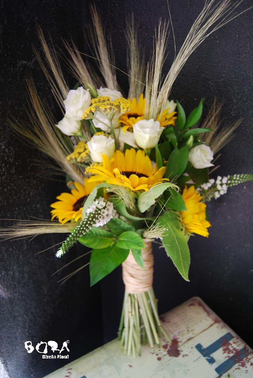 ramo novia girasoles