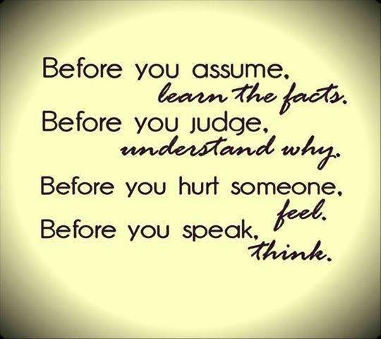 Before you act....