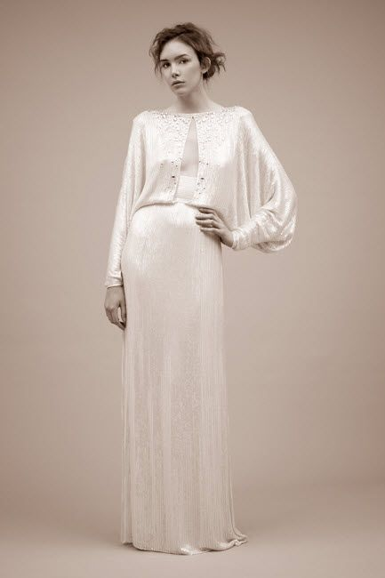 bridal wedding inspiration: Simple Silk Wedding Dresses Trend