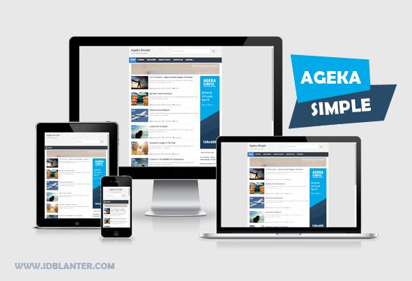 Ageka Simple Responsive Blogger Template