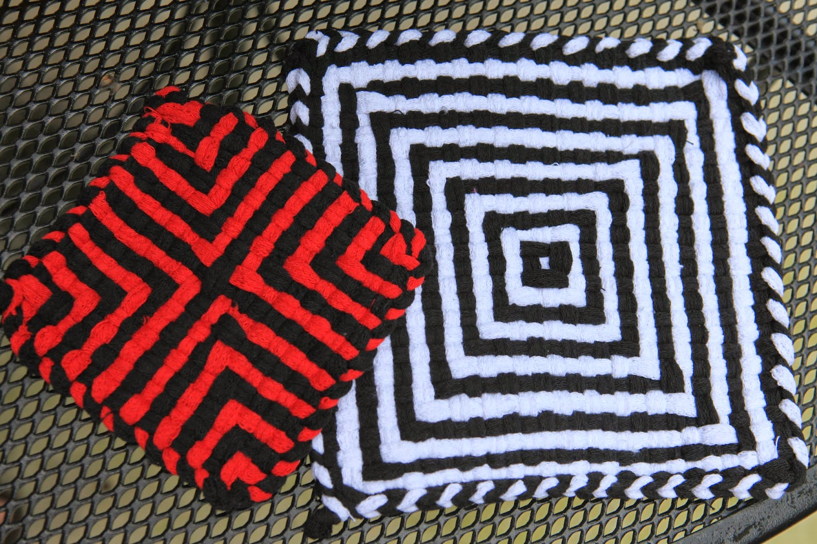 Todays Creations Pot Holders On A Loom Taking Them To The Next Level