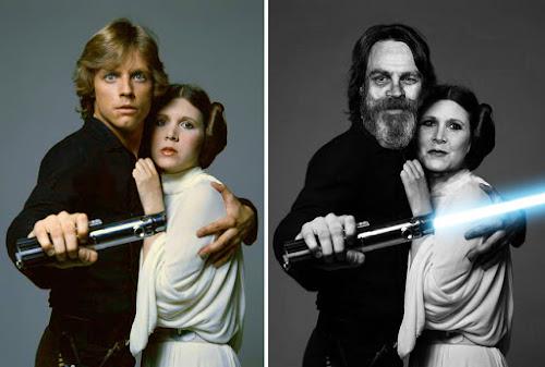 Antes e Depois dos autores de Star Wars