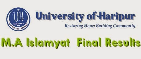 M.A Islamyat  Final Results Of HariPur Univeristy 2015